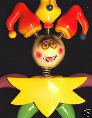 Bobble Head JESTER Mardi Gras Beads Moves Animated