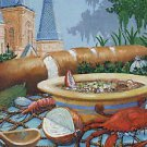 A Taste of New Orleans Art Print Mardi Gras Art Print Seafood French Quarter
