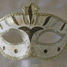 Venetian Eye Mask Bronze & Silver Costume Prom Party Mardi Gras New Orleans