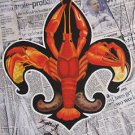 Fleur de Lis Crawfish Newspaper New Orleans Baltas Matted Art Print Louisiana