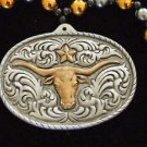 BELT BUCKLE Cowboy Western Bead Necklace Star Rodeo Fun