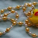 Bath Tub Rubber Ducky Bead Necklace Squeaky