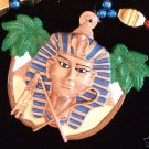 King Tut Gold Mardi Gras Bead Egypt Egyptian Mummy