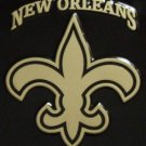 Fleur de Lis Car Tag METAL SIGN Plate Black Saints New