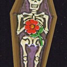 Day of the Dead Coffin Skeleton New Orleans Mardi Gras Beads Carnival Party