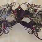 Large Purple Butterfly Jewel Wings Venetian Mask Halloween Mardi Gras Costume