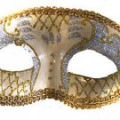Venetian Eye Mask Silver & Gold Costume Prom Party Mardi Gras New Orleans