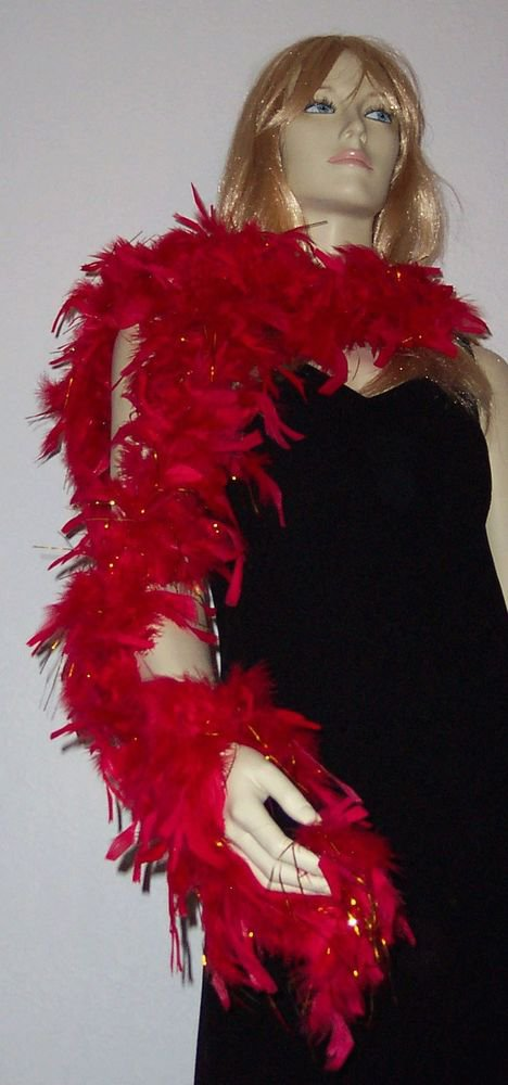 Feather Boa YOUR CHOICE COLORS with Foil Wedding Halloween Fashion Prom Party