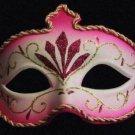 Venetian Mask Mardi Gras Costume Pink Trident