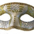 Venetian Eye Mask Gold & Silver Costume Prom Party Mardi Gras New Orleans