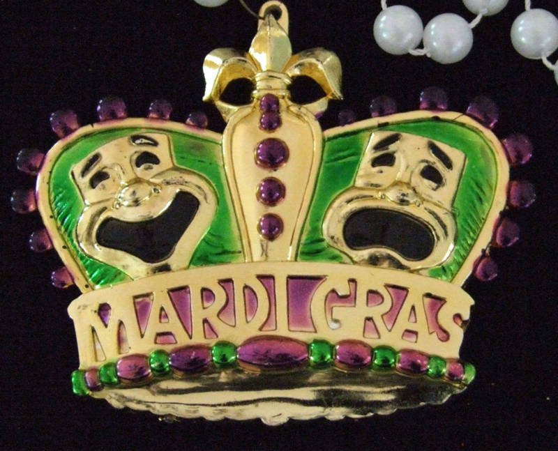 COMEDY TRAGEDY CROWN New Orleans Party Mardi Gras Beads