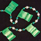 IRISH FLAG IRELAND Mardi Gras Bead Necklace