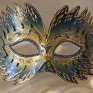 Venetian Mask Star Burst Blue Prom Mardi Gras Masquerade Costume Party