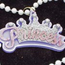 Princess Mardi Gras Bead Necklace New Orleans Daddys Classic Parade Crown