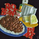 RED BEANS AND RICE Mardi Gras Beads New Orleans CAJUN