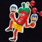 RED HOT CHILI PEPPER LADY DANCING Mardi Gras Beads
