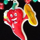 RED HOT CHILI PEPPER Mardi Gras Beads Party Drink Fun