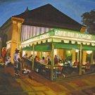 Cafe Du Monde Coffee Jazz Band New Orleans Baltas Matted Art Print