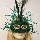 GREEN ISLE Costume Dress Mardi Gras Mask Masquerade Prom Masquerade Party