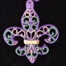 Fleur de Lis Scroll Mardi Gras Bead Necklace YOUR CHOICE OF MANY New Orleans