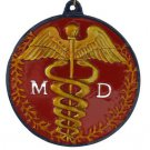 Medical Doctor MD Mardi Gras Bead Necklace New Orleans Beads Caduceus Hospital