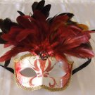 Trident Red Mask Costume Prom Mardi Gras New Orleans Masquerade