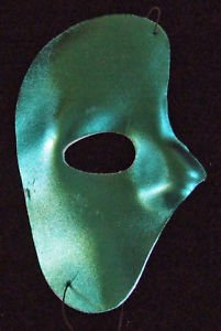 Green Phantom Half Mask Venetian Masquerade Party Fun