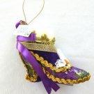 Purple Shoe Ornament Mardi Gras Hanging Ornament New Orleans Muses