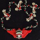 Motorcycle Chopper Mardi Gras Bead Necklace YOUR COICE OF MANY Beads Cycle