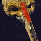 Venetian Mask HALLOWEEN Drama Mens Ivory Blood Gold