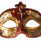 Venetian Eye Mask Burgundy Music Antique Prom Mardi Gras Masquerade Costume