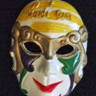 Jester Mask Mardi Gras Bead New Orleans Purple Gold