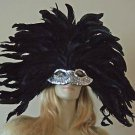 Venetian Mask Mardi Gras SILVER SENSATION Elaborate  Masquerade Prom Party