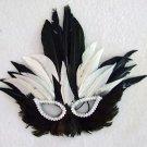 Zulu Queen Masquerade Party Mask Feather Halloween