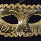 Venetian Eye Mask Glitter BLACK & SILVER Costume Party