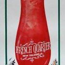 HURRICANE WARNING New Orleans Drink Glass Pat O'Briens Bourbon Street Paddy O's