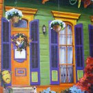 New Orleans Shotgun Mardi Gras House Baltas Giclee Canvas New Orleans Art Print