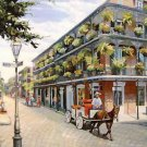 Donkey Cart Jackson Square New Orleans Art Print Matted Print Baltas