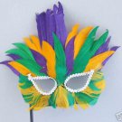 Party Bird Mardi Gras Colors Wand Masquerade Party Mask