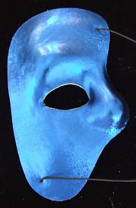Phantom Blue Venetian Mask Masquerade Costume Mardi Gras Party Opera Prom
