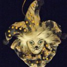 Porcelain Jester Cat Face Tip Ornament YOUR CHOICE STYLE Mardi Gras Orleans
