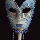 Venetian Full Scroll Stick Mask Your Choice Color Mardi Gras Costume Party