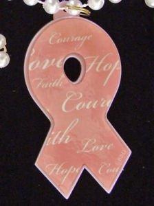 CANCER AWARENESS Pastel Pink Awareness Beads Cure