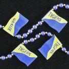 GEAUX Tigers Mardi Gras Necklace Beads Paw Flag Flags