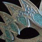 STARFIRE Venetian Masquerade Mardi Gras AQUA SILVER