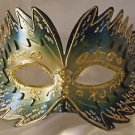 Venetian Mask Star Burst Green Prom Mardi Gras Masquerade Costume Party