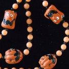 Pumpkin Jack O'Lanterns Pumpkin Halloween Bead Necklace