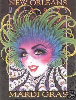 Mistretta 1997 Masks Mardi Gras Art Artist Signed & Numbered #264 New Orleans