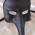 Pulcinella Venetian Mask Black Mardi Gras Prom Halloween Costume Party
