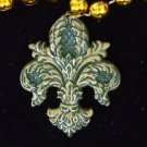 Fleur de Lis Filigree Mardi Gras Bead Necklace YOUR CHOICE OF MANY New Orleans